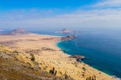 Pan de Azucar National Park, no deserto de Atacama é o melhor p imagens de stock royalty free