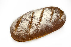 Pan de centeno del pan amargo en un fondo blanco Fotografía de archivo libre de regalías