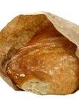 Pan de Ciabatta en bolsa de papel Foto de archivo