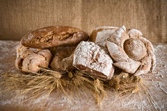 Pan de diversos tipos Imagen de archivo