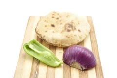 Pan de Egipto con el paprika y la cebolla Fotos de archivo libres de regalías