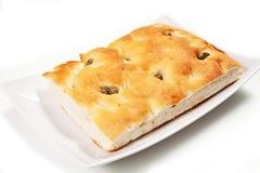 Pan de Focaccia Imagen de archivo