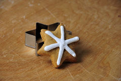 Pan de jengibre de la Navidad Imagenes de archivo
