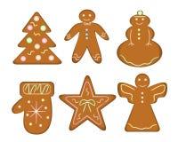 Pan de jengibre de la Navidad libre illustration