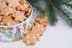 Pan de jengibre de la Navidad. Fotografía de archivo libre de regalías
