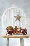 Pan de jengibre de la Navidad Foto de archivo
