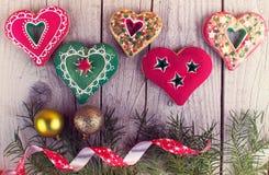 Pan de jengibre de la Navidad Fotos de archivo libres de regalías