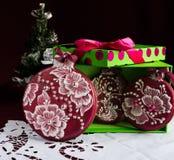 Pan de jengibre de la Navidad foto de archivo libre de regalías