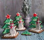 Pan de jengibre de la Navidad Fotos de archivo