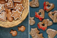Pan de jengibre de la Navidad fotografía de archivo