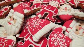 Pan de jengibre hecho en casa único de los Años Nuevos y de la Navidad Foto de archivo libre de regalías