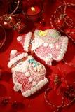 Pan de jengibre Papá Noel para la Navidad Imagen de archivo