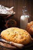 Pan de la calabaza Foto de archivo libre de regalías