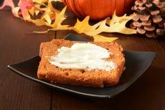 Pan de la calabaza Fotos de archivo