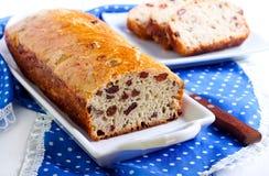 Pan de la pasa y de la nuez Foto de archivo