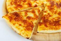 Pan de la pizza con queso Foto de archivo libre de regalías