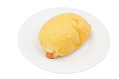 Pan de la salchicha Fotos de archivo