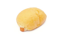 Pan de la salchicha Foto de archivo