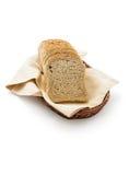 Pan de la tostada en una cesta Imágenes de archivo libres de regalías