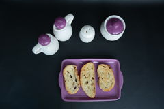Pan de la tostada para el desayuno Fotografía de archivo