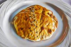 Pan de Lavash para el kebab turco tradicional del sabor ilustración del vector