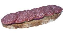 Pan de Rye y salchicha ahumada Foto de archivo