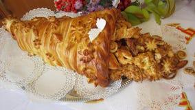 Pan del pan de la forma original Fotografía de archivo