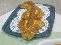 Pan del pan de la forma original Imagen de archivo libre de regalías