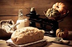 Pan del germen de calabaza Imagen de archivo libre de regalías