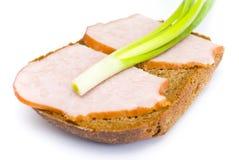 Pan del jamón y de centeno Fotos de archivo libres de regalías