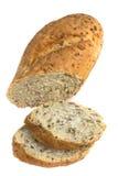 Pan del pan aislado en blanco foto de archivo libre de regalías