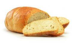 Pan del pan aislado en blanco fotografía de archivo libre de regalías