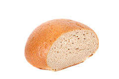 Pan del pan aislado en el fondo blanco Imagen de archivo libre de regalías