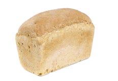 Pan del pan blanco aislado en blanco Imagen de archivo