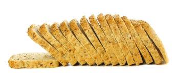 Pan del pan blanco aislado en blanco fotos de archivo libres de regalías
