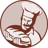 Pan del pan de la explotación agrícola del panadero del cocinero Fotografía de archivo libre de regalías