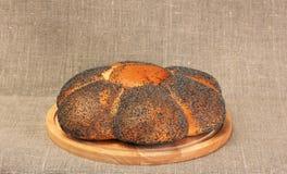 Pan del pan del trigo con la semilla de amapola Imagen de archivo