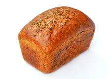 Pan del pan en un fondo blanco Fotografía de archivo libre de regalías