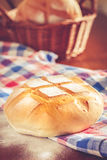 Pan del pan redondo Fotografía de archivo
