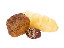 Pan del pan, un pan y bollo Imagen de archivo libre de regalías