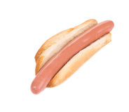 Pan del perrito caliente y rollo de salchicha Foto de archivo libre de regalías