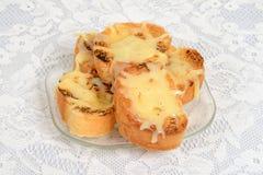 Pan del queso del ajo Imagen de archivo libre de regalías