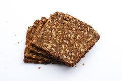 Pan del trigo integral con las semillas aisladas Imagen de archivo