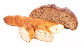 Pan del trigo y de centeno Imagen de archivo libre de regalías
