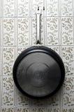 Pan in der Küche stockfotos