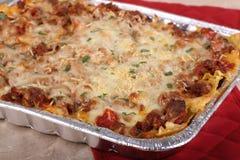 Pan der Lasagne Stockfotos