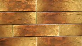 Pan des braunen dekorativen nahtlosen Ziegelsteinhauses Maurerarbeithintergrund Zahl Block stock video footage