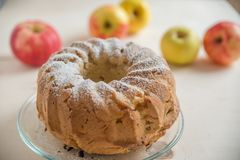 Pan di Spagna di Apple Fotografia Stock Libera da Diritti