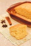 Pan di Spagna arancio Immagini Stock