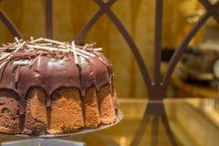 Pan di Spagna del cioccolato Fotografia Stock